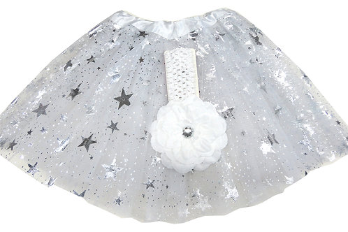 T805S  Girls' Star Tutu with Head Band and Flower