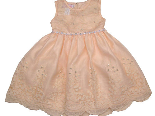 85-202 Infants' Tulle  Embroidered  Dress