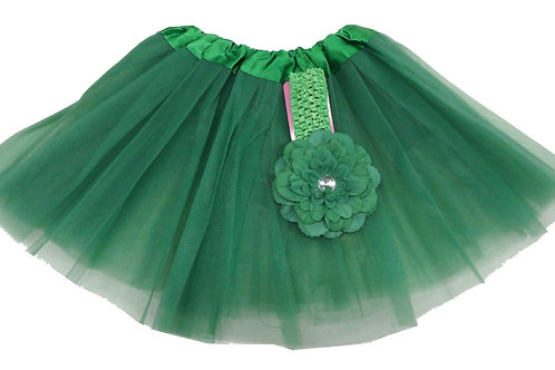 T808G  Girls'  Tutu with Head Band and Flower