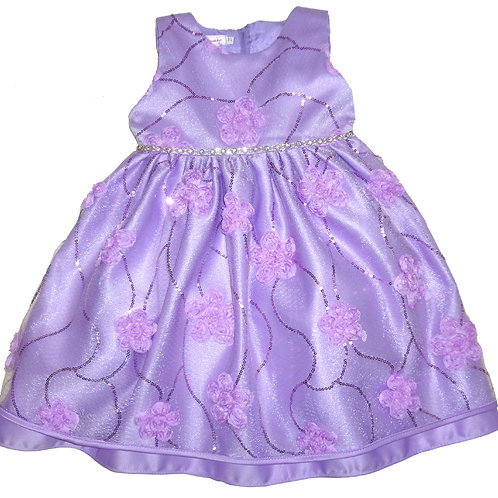 67-851 Infants'  Tulle  Embroidered  Dress