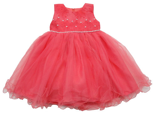 84-603X Girls' (4-6X) Tulle  Embroidered  Dress