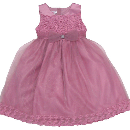 94-409X Girls' (4-6X)  Organza  Embroidered  Dress