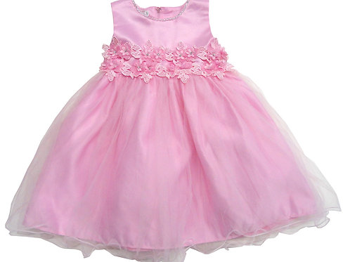 74-474T Toddler Girls' Tulle  Embroidered  Dress