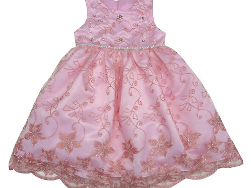 85-208T Toddler Girls' Tulle Embroidered  Dress