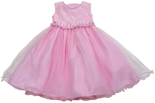 72-102 Infants'  Tulle  Embroidered  Dress