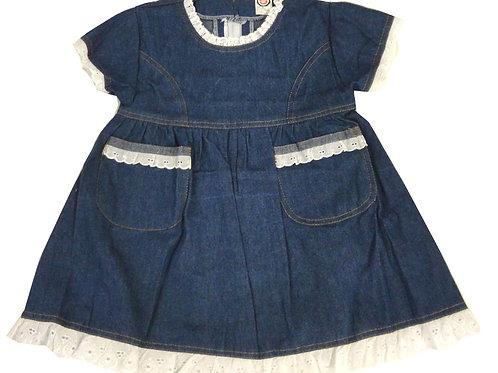 D-28 Girls' Denim Dress