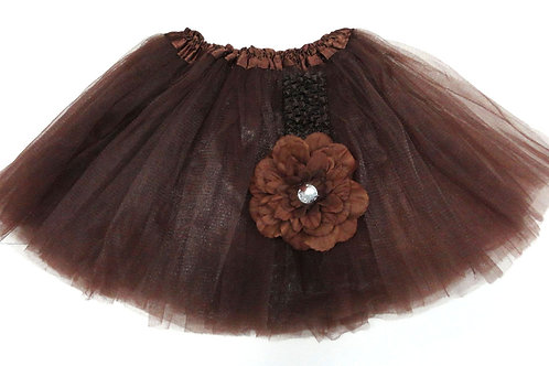 T218  Girls'  Tutu with Head Band and Flower