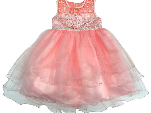 85-205T Toddler Girls' Tulle Embroidered  Dress
