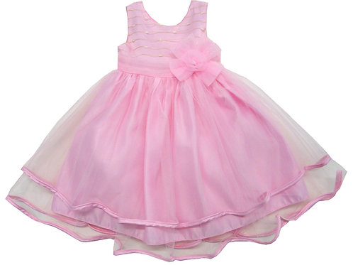84-609T Toddler Girls' Tulle  Embroidered  Dress