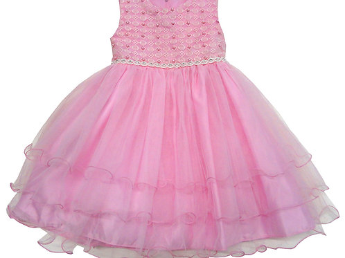 72-103T Toddler Girls' Tulle  Embroidered  Dress