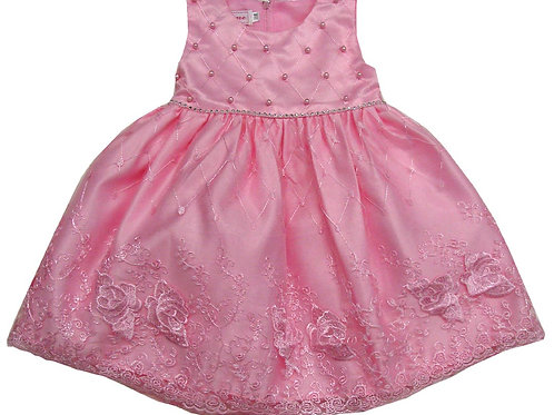 85-203T Toddler Girls' Tulle Embroidered  Dress