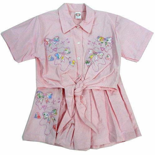 2-501  Girls' Pink Shorts set