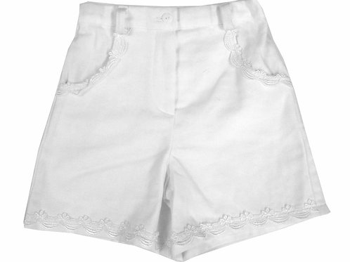 #45 Girls' White Shorts