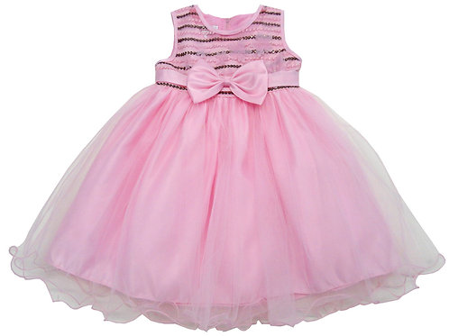 84-611X Girls' (4-6X) Tulle  Embroidered  Dress