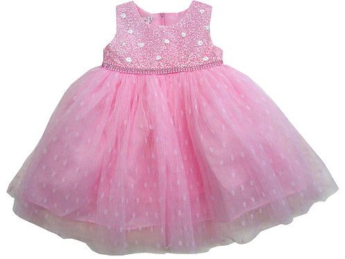 85-08 Infants' Tulle  Embroidered  Dress