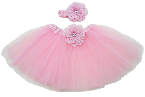 T205B Infant' Tutu with Head Band and Flower