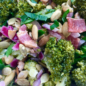 Mayo-Free Broccoli Bacon Salad