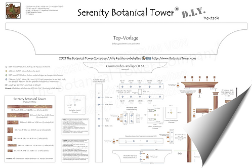 Serenity Botanical Tower DIY Blueprint / German