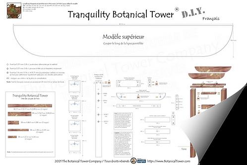 Tranquility Botanical Tower DIY Blueprint / French