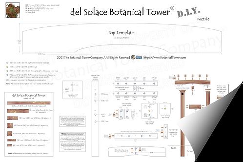 del Solace Botanical Tower DIY Blueprint / Metric