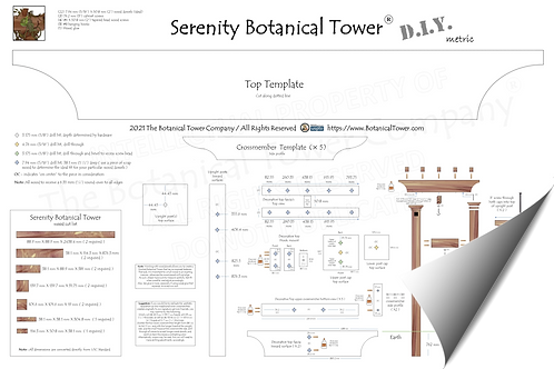 Serenity Botanical Tower DIY Blueprint / Metric