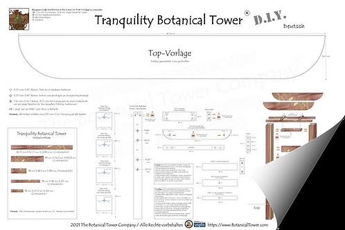 Tranquility Botanical Tower DIY Blueprint / German