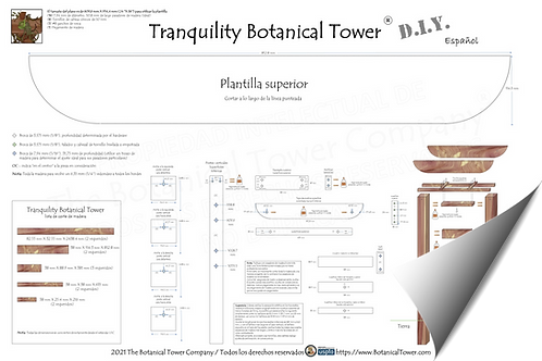 Tranquility Botanical Tower DIY Blueprint / Spanish