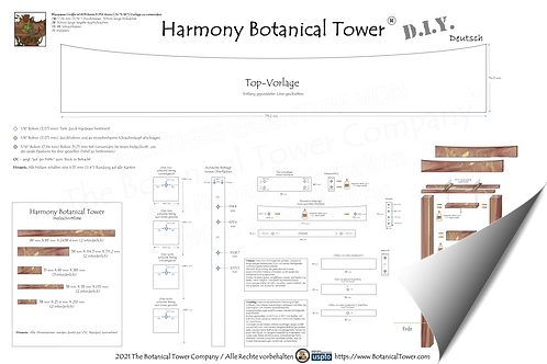 Harmony Botanical Tower DIY Blueprint / German