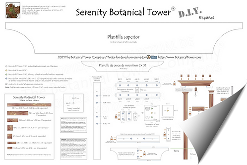 Serenity Botanical Tower DIY Blueprint / Spanish