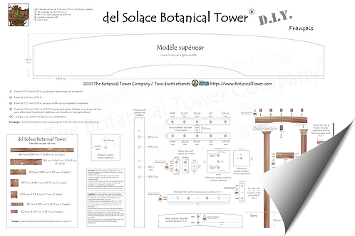 del Solace Botanical Tower DIY Blueprint / French