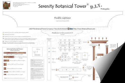 Serenity Botanical Tower DIY Blueprint /  French