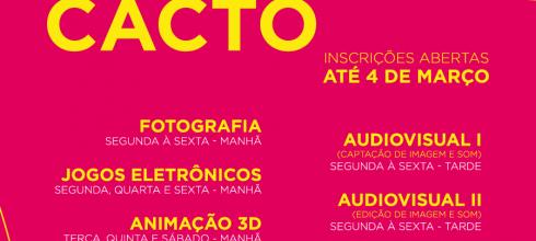 Inscrições abertas para cursos CACTO