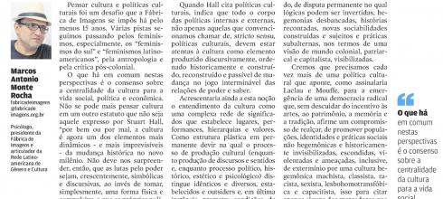 Cultura e Políticas Culturais