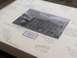 Signed photo frame