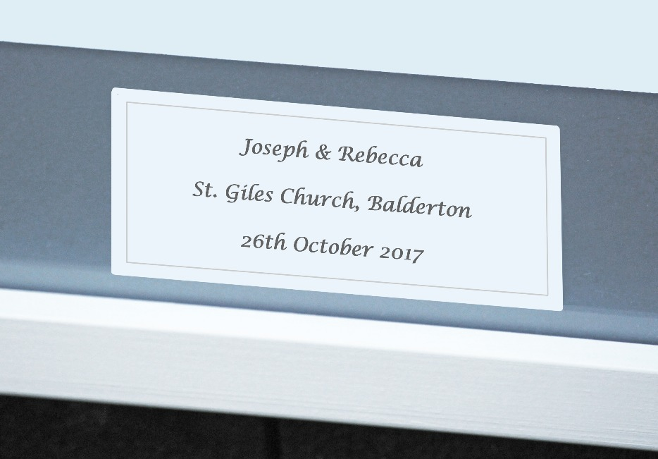 Personalised wedding illustration
