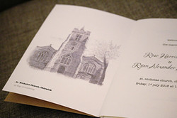 Personalised Order of Service