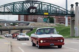 Cruising on histroic Route 66, Tulsa, OK