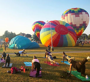 Hudson Valley balloon festival yoga
