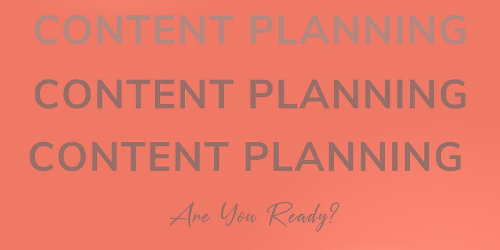 VIRTUAL Content Planning Workshop
