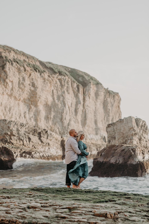 Shark Fin Cove, Couple engagement shoot