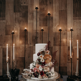 INDUSTRIAL MOODY WEDDING CAKE