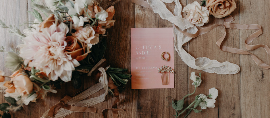 Dusty Sunset Palette Wedding Florals - Intimate, At-Home, Romantic Wedding