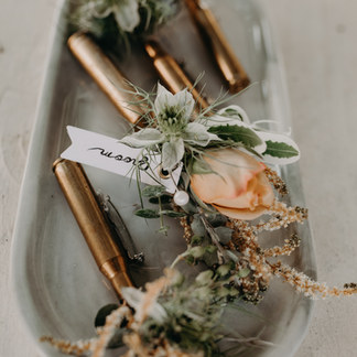 Bullet Casing Wedding Boutonnieres