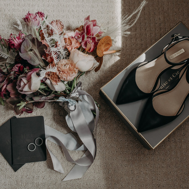 INDUSTRIAL MOODY WEDDING DETAILS
