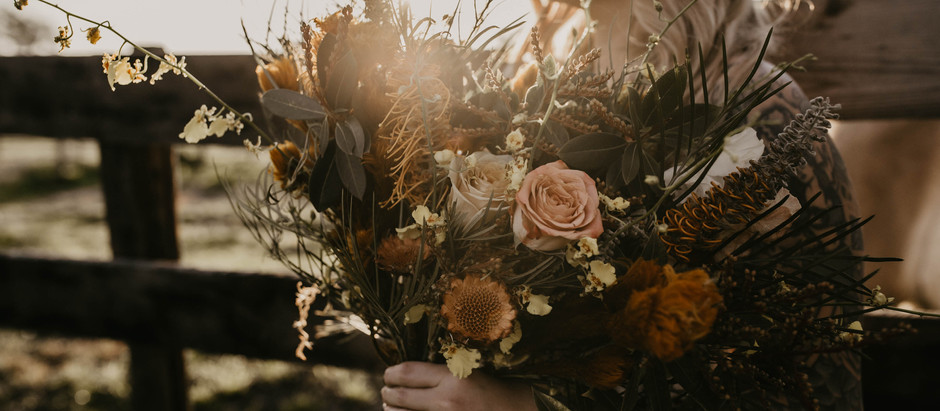 Dark and Moody Florals for Styled Shoot in Lodi, CA