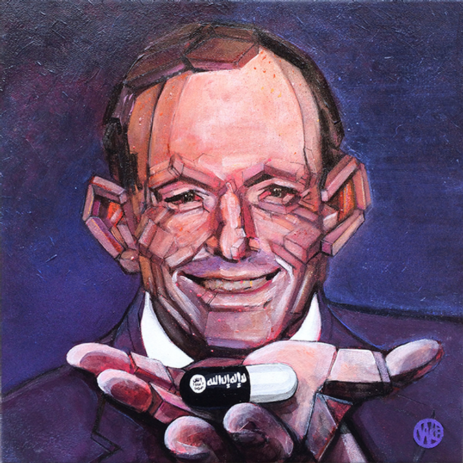 Tony Abbott portrait By Wade Gregory Clark