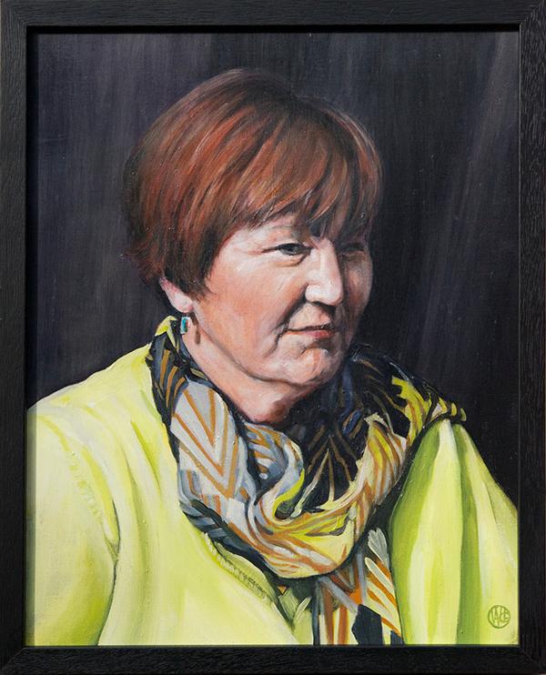 Portrait of Jeff by artist Wade Grergory Clark