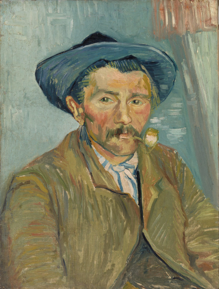 Vincent van Gogh. The Smoker (Le Fumeur), 1888. Oil on canvas, Overall: 24 3/4 x 18 3/4 in. (62.9 x 47.6 cm). BF119. Public Domain.
