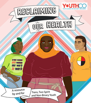 """Commissioned cover for YouthCo's booklet """"Reclaiming Our Health"""""""