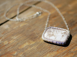 ombre beaded pendant